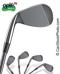 Golf Iron - Golf Club/Close up, realistic Iron Illustration