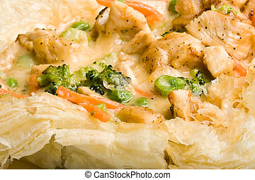 chicken pot pie - light a fluffy chicken pot pie hot out of...