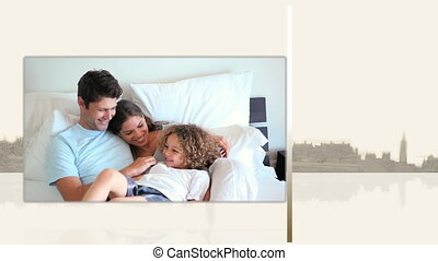 Videos of families on a bed