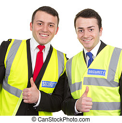 Two security guards together