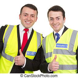 guardie, sicurezza, due, insieme