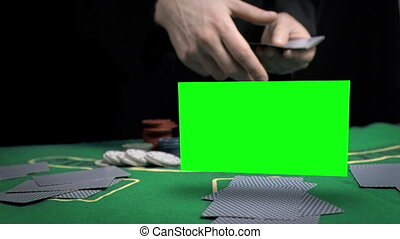 Man throwing cards on the table - Animation of a man...