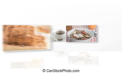 Video of breakfast and pastry