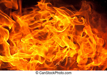Flame Background - a background of flames