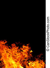 Fire On Black - a fire against a black backgound