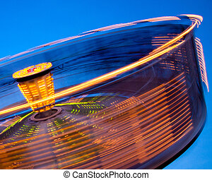 Abstract of spinning ride at carnival