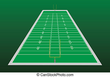 Football Field Perspective - Illustration of a football...
