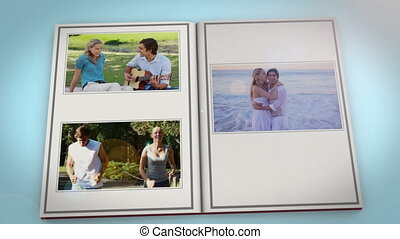 Book with couple videos - Animation of book with couple...