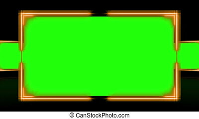 Bright frames with chroma key again - Animation of bright...