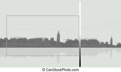 City background with frames - Animation with city background...
