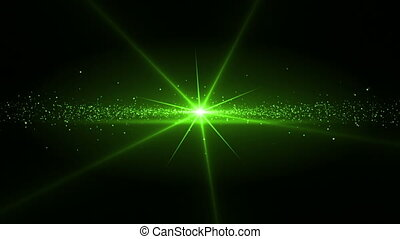Video of a green star shining - Animation of a green star...