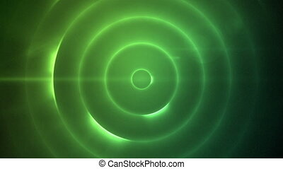 Moving circles of flashing blue lig - Background of moving...