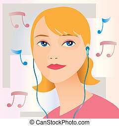 listening to music - Is a editable eps file