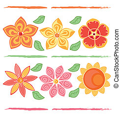 Vector design of flowers in color