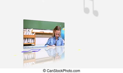 Videos of a pupils at their desk