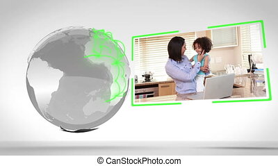 Families together around the world - Animation of families...