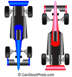 Sport car scheme top view vector illustration