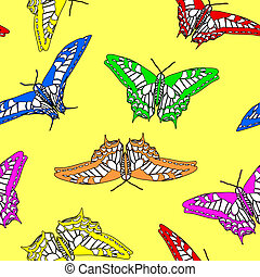 Butterfly seamless pattern . Vector illustration.