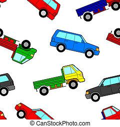 Car seamless wallpaper, vector illustration