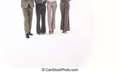 Business team with crossed arms