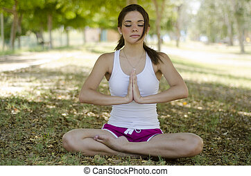 Doing some yoga