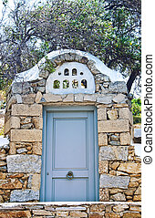 Antique wooden door from Greece