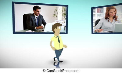 Videos of business in an office - Animation of business...