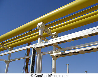 Gas Pipeline - yellow gas pipeline