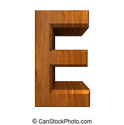 3d letter Q in wood - 3d made