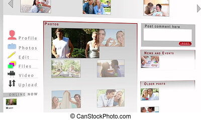 Social network of a couple - Animation of a social network...