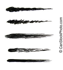 hand drawn brushes set - hand drawn charcoal brushes set