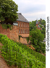 Church - View of the church in the city Saarburg,...