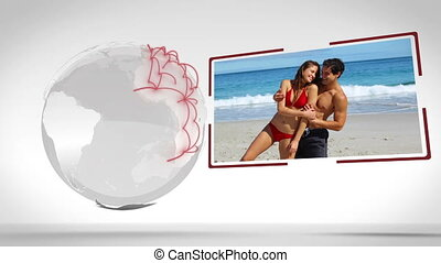 Videos of couple outdoors with an E - Animation of couple...