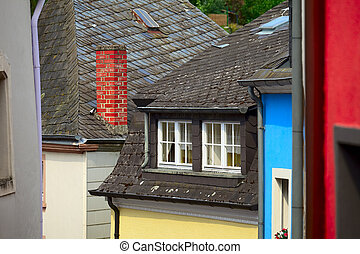 Old roofs - View of the typical ancient roofs in town...