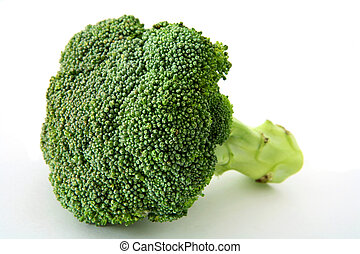 Fresh broccoli over white