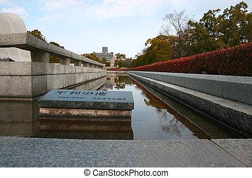 Stock Photo of the Cenotaph Hiroshima Japan - Memorial...