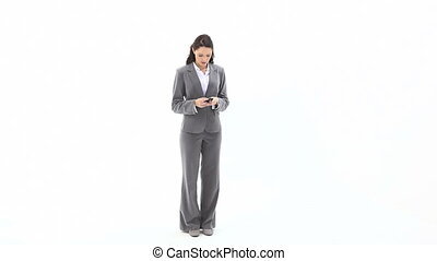 Business woman texting - Video of a business woman texting