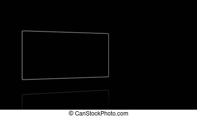 Screens against a black background
