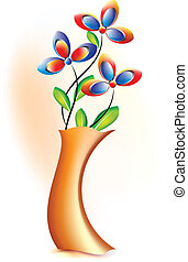 pote, flor