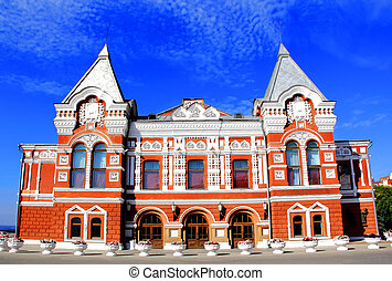 Historic drama theater in Samara - Image of historic drama...
