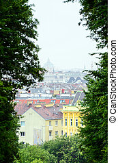 View on Veinna from Schonbrunn palace