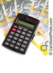 Dinheiro, calculadora