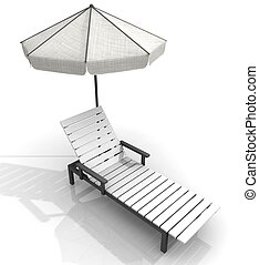beach deck-chair  - beach deck-chair