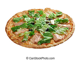 Pizza Atlantic salmon