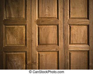 Texture of Teak wood Door