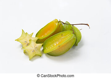 starfruit  - Carambola on the white background