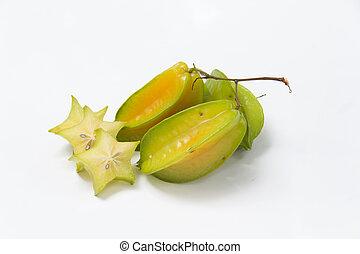 starfruit  - Carambola on the white background