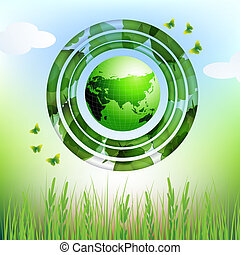 Eco earth design background