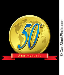50 years anniversary - The abstract of 50 years anniversary