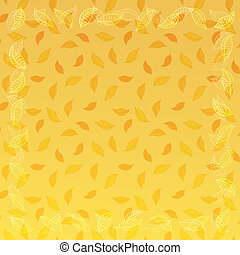 vector autumn background with frame from leaves
